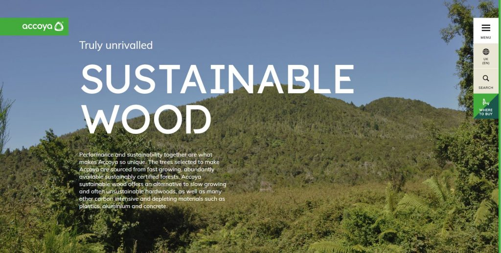 Accoya sustainable wood
