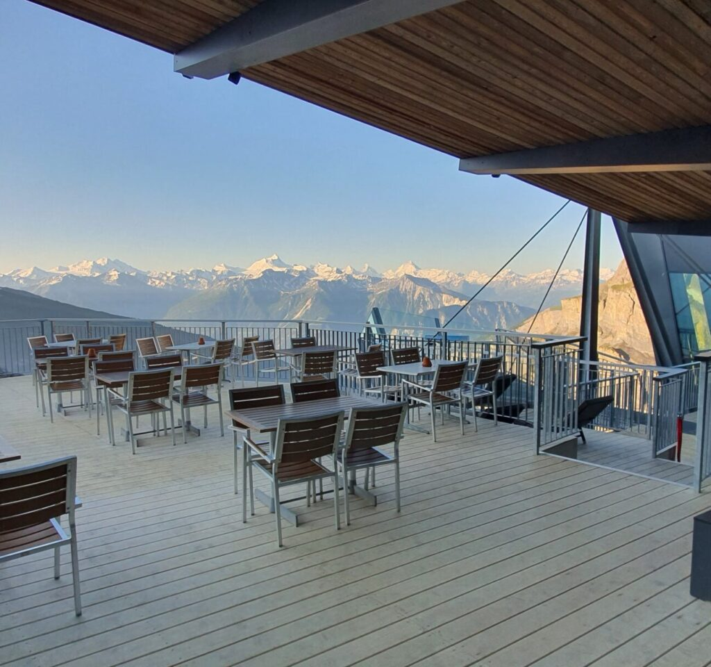 Accoya deck tops the Swiss Alps