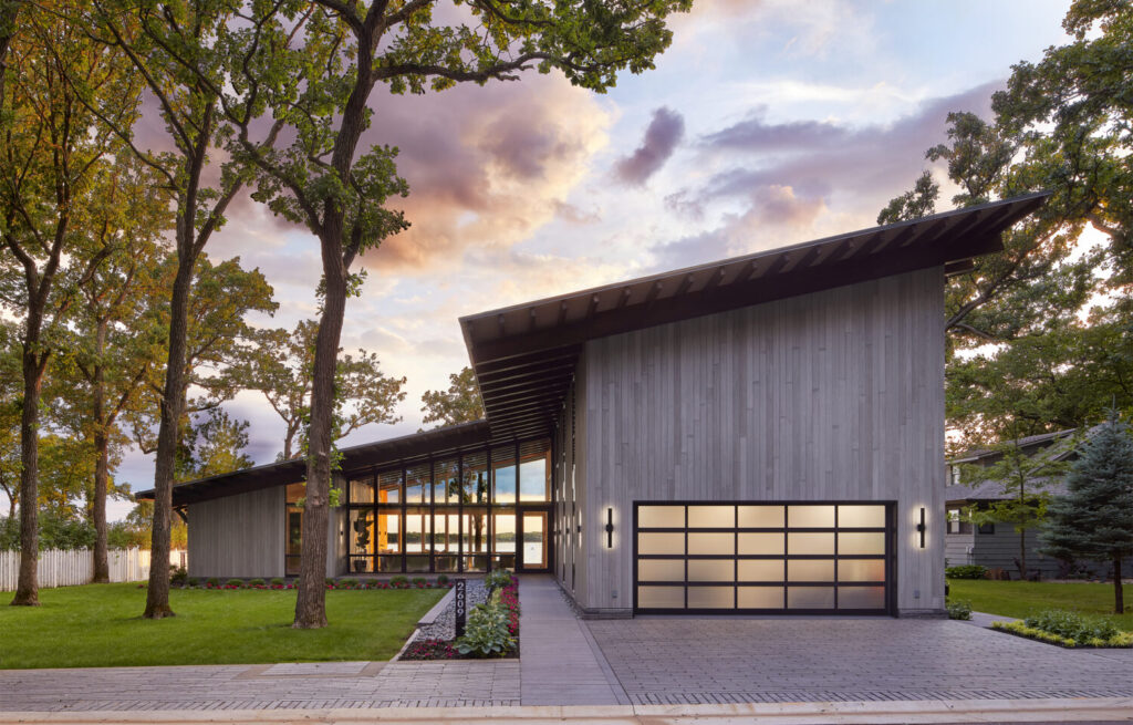 Charred Accoya wood from reSAWN Timber clads this lakeside house in Iowa, USA, and was also used on the Guinness Open Gate Brewery